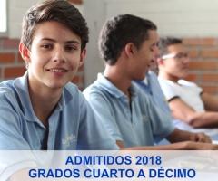 Listado de admitidos grados Cuarto a Décimo