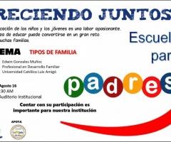 Escuela de padres Agosto 2017