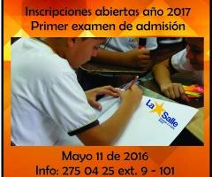 Primer examen de admisión año 2017